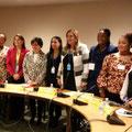 Des femmes ministres en Afrique:: Julia Duncan Cassell (2e de gauche), Maya Morsi (5e de gauche) et Patricia Kaliati (2e de droite)