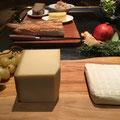 Käse passt immer. Rotwein fehlt.