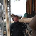 Martin mit Schneestangen
