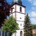 Der Kirchturm der Wiesenthaler Kirche
