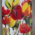 """Titel: """"Rote und gelbe Tulpen"""" - 60 x 80 cm - 170,00 €"""