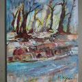 """Titel: """"Am Bach"""" - 50 x 70 cm - 250,00 €"""