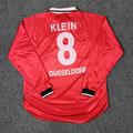 Trikot, Heimtrikot, Saison 2000/2001, Fortuna Düsseldorf, matchworn, Nr. 8, Wolfram Klein, Umbro, Henkel