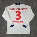 Trikot, Auswärtstrikot, Saison 2000/2001, Fortuna Düsseldorf, matchworn, Nr. 3, Jürgen Radschuweit, Umbro, Henkel