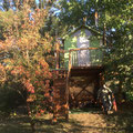 Baumhaus im Naturgarten bei Juste