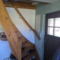 Eingang und Treppe zum Dachgeschoß