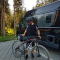 Angekommen und ab aufs Bike