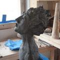 Sculpture terre crue - Caco -