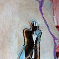 warten auf.. | Schnitt-Collage | 32 x 22 cm