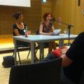 """Tag der offenen Tür im Haus der Bildung. Judith Merchant liest den Anfang zu """"Bonn schreibt einen Krimi"""" © Literaturhaus Bonn"""