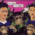 1998; Frida, Steff y los monitos de Nikko, Acryl auf Leinwand
