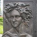 Fanny Hensel, Bronze, Granit
