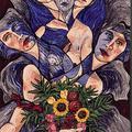 1998; Der Blumenstrauss, Acryl auf Leinwand