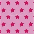 lillestoff - stars rosa/himbeer - biojersey