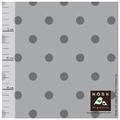 nosh - polka dots, grey - biojersey