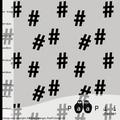paapii - hashtag, hellgrau - bio-jersey