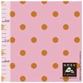 nosh - polka dots, pink/orange - biojersey