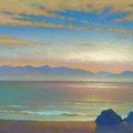 THE SPRING-WELL OF THE EARTH. BAIKAL 2002 (pasteboard,oil on canvas) 24x70