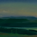 ABRAU DURSO LAKE 1999 (oil on canvas) 35x100