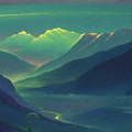 THE FIRST RAY 1996 (oil on canvas) 35x80