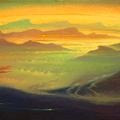A GOLDEN SYMPHONY 1996 (oil on canvas) 35x90