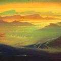 A GOLDEN SYMPHONY 1996 (oil on canvas) 35x90
