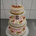  6 : Hochzeitstorte auf Turm mit leichtem Airbrush