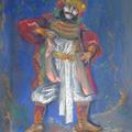 Balinesischer Tänzer, Pastell, 50 x 70 cm
