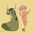 こもりがち人外と格闘家幼女。