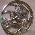 Grande disco Art Deco in metallo