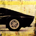 lamborghini I mixed media, 30x30 cm
