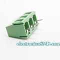 Terminal tipo bloque estándar verde 3 tornillos