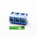 Terminal tipo bloque estándar color azul 3 tornillos
