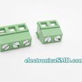 Terminal tipo bloque estándar verde