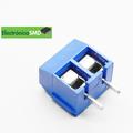 Terminal tipo bloque estándar azul 2 tornillos