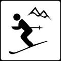 Skipisten und Langlaufloipen