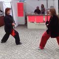 Stadtfest Rüdesheimer Platz: Partner-Schwert Vorführung mit Martina