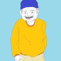 ユニクロのモデルのような服を着たおじいちゃん
