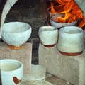 Die Schalen im Ofen