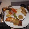 Filet de saumon à l'érable sur planche de cèdre