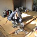 材木をカット
