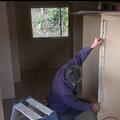 家具を造ります。大工さん手作りのクローゼット。