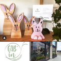 Easter decorations at Gab'in Café in Nyon. April 2019