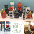 Halloween decorations at Gab'in Café in Nyon.  October/November 2019