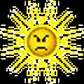 sun angry