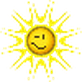 sun winking