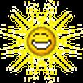 sun grinning