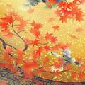 和UESAKA/上坂友禅・鷺に紅葉2