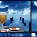 Bière blonde avec intégration