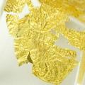 Goldmetalleinschluss transparent